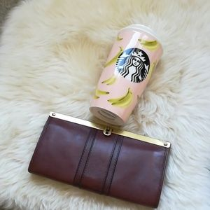 Fossil clutch wallet genuine leather